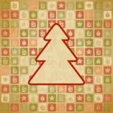Fundo do Natal do vintage do vetor no estilo retro Fotos de Stock Royalty Free