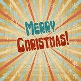Fundo do Natal do vintage do vetor no estilo retro Fotografia de Stock Royalty Free