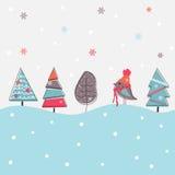 Fundo do Natal dos desenhos animados Fotografia de Stock Royalty Free