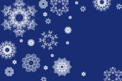 Fundo do Natal dos flocos de neve Fotos de Stock Royalty Free