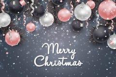 Fundo do Natal e do ano novo, cartão do feriado Foto de Stock Royalty Free