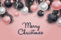 Fundo do Natal e do ano novo, cartão do feriado Imagens de Stock Royalty Free