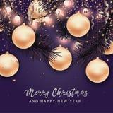 Fundo do Natal e do ano novo para o cartão ilustração stock