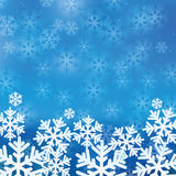 Fundo do Natal e de ano novo com flocos de neve Foto de Stock