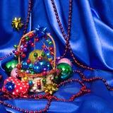 Fundo do Natal e do ano novo com espaço da cópia Imagens de Stock