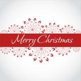 Fundo do Natal e do ano novo com flocos de neve Fotografia de Stock