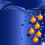 Fundo do Natal e do ano novo com quinquilharias e espaço para o texto Imagens de Stock Royalty Free