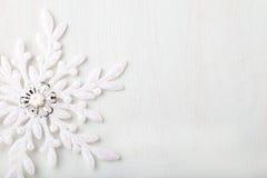 Fundo do Natal e do ano novo snowflake Copie o espaço Fotos de Stock Royalty Free
