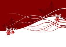Fundo do Natal - floco de neve ilustração royalty free