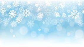 Fundo do Natal, flocos de neve, papel de parede, neve Foto de Stock