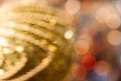 Fundo do Natal Fundo abstrato festivo com luzes e as estrelas defocused do bokeh imagem de stock