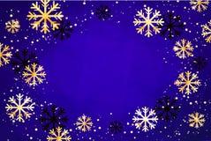 Fundo do Natal Ilustração abstrata com flocos de neve Molde moderno fácil Imagem de Stock Royalty Free