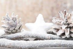 Fundo do Natal no estilo do vintage ano novo feliz 2007 Imagens de Stock Royalty Free