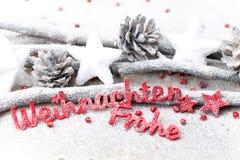 Fundo do Natal no estilo do vintage ano novo feliz 2007 Letra vermelha Fotos de Stock Royalty Free