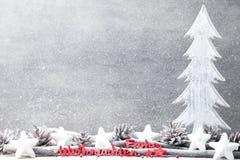 Fundo do Natal no estilo do vintage ano novo feliz 2007 Letra vermelha Foto de Stock