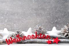 Fundo do Natal no estilo do vintage ano novo feliz 2007 Letra vermelha Fotos de Stock