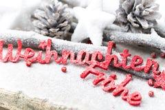 Fundo do Natal no estilo do vintage ano novo feliz 2007 Letra vermelha Fotografia de Stock Royalty Free