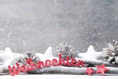 Fundo do Natal no estilo do vintage ano novo feliz 2007 Letra vermelha Fotografia de Stock