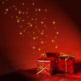 Fundo do Natal no vermelho Foto de Stock Royalty Free