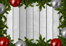 Fundo do Natal - o abeto ramifica com bolas do Natal Imagem de Stock