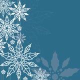 Fundo do Natal, obscuridade - azul, árvore de azevinho Imagens de Stock