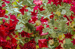 Fundo do Natal ouropel Textura para o projeto Imagens de Stock Royalty Free