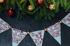 Fundo do Natal Fundo para introduzir o texto O ano novo Foto de Stock