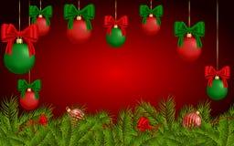 Fundo do Natal para o cartão Fotos de Stock