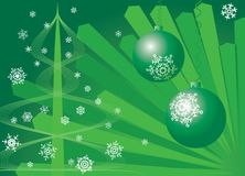 Fundo do Natal. Verde. ilustração stock