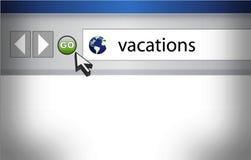 Fundo do navegador com férias da palavra Imagens de Stock