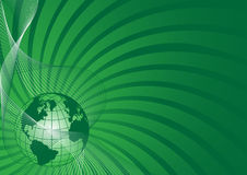 Fundo do negócio com o globo verde do mundo Fotos de Stock Royalty Free
