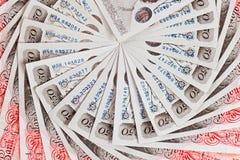 fundo do negócio de 50 notas de banco de libra esterlina Imagem de Stock Royalty Free