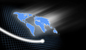 Fundo do negócio de mundo Imagem de Stock Royalty Free