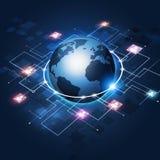 Fundo do negócio de uma comunicação global Fotografia de Stock Royalty Free