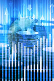 Fundo do negócio dos mercados globais Fotos de Stock