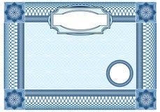 Fundo do negócio, elemento do ornamental do Guilloche  Imagem de Stock