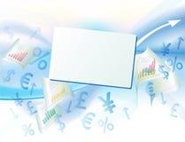 Fundo do negócio com os sinais de moeda Fotos de Stock Royalty Free
