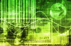 Fundo do negócio da tecnologia do dinheiro verde Fotografia de Stock Royalty Free