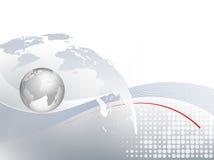 Fundo do negócio global com mapa do mundo Imagens de Stock Royalty Free