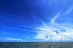 Fundo do oceano e do céu Imagens de Stock Royalty Free