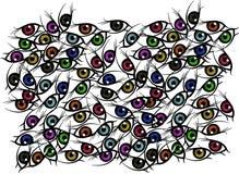Fundo do olho Fotografia de Stock