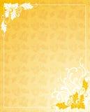 Fundo do Ornamental do ouro Fotografia de Stock Royalty Free