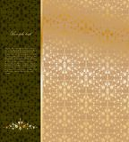 Fundo do ornamental do ouro do vintage. Vetor ilustração do vetor