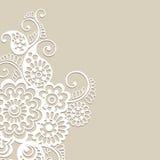 Fundo do ornamento do vetor da flor Foto de Stock Royalty Free