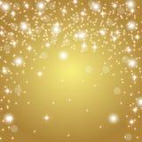 Fundo do ouro com brilho ilustração do vetor