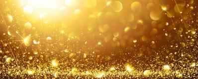 Fundo do ouro com estrelas ilustração do vetor