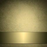 Fundo do ouro com a fita dourada brilhante Fotos de Stock Royalty Free