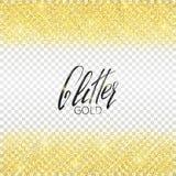 Fundo do ouro do brilho Partículas douradas brilhantes Vetor do ouro do brilho Fotos de Stock