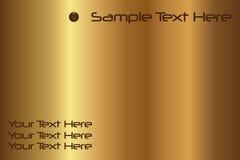 Fundo do ouro do texto da amostra Imagem de Stock Royalty Free