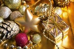 Fundo do ouro do Natal Foto de Stock